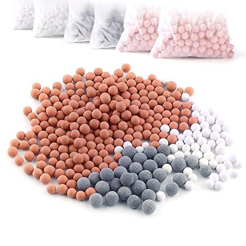 Austor 6 packungen negativen ionen - bälle, ersatz - bio - aktiven stein für ionische filter - duschköpfe, reinigt dusche wasser verjüngt haut und haar Rost Ball