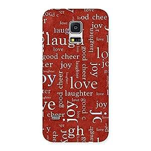 NEO WORLD Love Laugh Back Case Cover for Galaxy S5 Mini