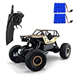 FSTgo Camion à télécommande 4x4 tout terrain Crawer pour les garçons, alliage 1/18, voitures à télécommande radio RC 2,4 GHz pour les garçons (Or)