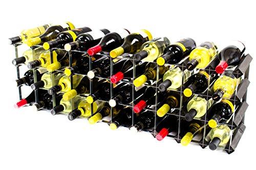 Cranville wine racks Klassische 30/40Flasche Schrank Oben schwarz gebeiztem Holz und Schwarzem...
