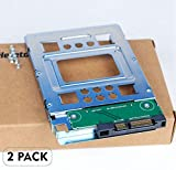 """Heretom 2-Pack 2,5"""" SSD a 3,5"""" Adattatore Disco Rigido SATA Vassoio Convertitore Hot-swap Compatibile con tutti i 3,5"""" SATA/SAS Tray Caddy per HP Apple Dell IBM Lenovo"""