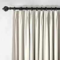 ChadMade Pinch Pleat 42W x 84L Blackout Lined Velvet Curtain Drapery Panel For Traverse Rod or Track, Living room Bedroom Meetingroom Club Theater Patio Door (1 Panel), White from ChadMade