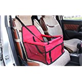 SRI High Quality Pet Back Seat Cover Mat Bag For Cars Waterproof Hammock Scratch Proof Dogs Cat Trucks SUV Auto Rear (Red)