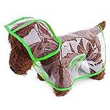 Ducomi® dogalize–Impermeable con Capucha de nailon transparente para perro–Abrigo impermeable Modelo Poncho para perros