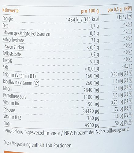 Raab Vitalfood Buchweizenkeim-Pulver, gekeimt, laborgeprüft, vegan, glutenfrei, 90 Stück, mit Vitamin-B-Komplex, Buchweizen, 80 g