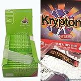 25 librillos papel de fumar Gizeh 1 1/4 + 2000 filtros Krypton 6mm...