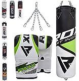 RDX Boxsack Set Gefüllt Kickboxen MMA Muay Thai Boxen mit