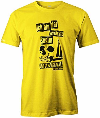 Ich bin der verrückte Segler vor dem dich alle gewarnt haben - Sport Hobby - Herren T-SHIRT Gelb