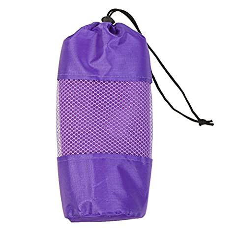 Quick Drying Swimming Towel - Super Fast Absorbent and Travel Sports Towel with Family Hand Towel for Sports, Bath, Gym, Pool, Beach, Camping, Fitness or Yoga (Purple)