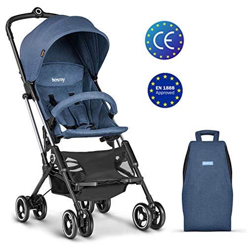 besrey Silla de Paseo de Bebé Carrito Bebé Cochecito LIGERA Plegable compacta Avión 6-36meses Azul