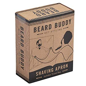 Rasierschürze 'Beard Buddy' mit Saugnäpfen zur Befestigung am Spiegel für saubere Rasuren