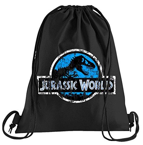 Touchlines Jurassic World Distressed Logo Sportbeutel – bedruckter Turnbeutel mit Kordeln