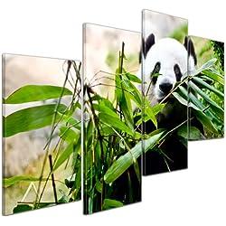 Bilderdepot24 Cuadros en Lienzo Panda - 120x80 cm 4 piezas - Enmarcado listo Bastidor imagen. directamente desde el fabricante