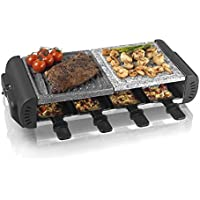 Tower T14016 8 Person Cerastone Multi-Surface Raclette, Easy Clean, Ceramic, 1200 W, Black