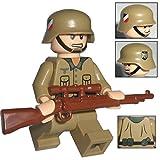 Custom Brick Design Figur - WW2 Serie - Deutscher Soldat Afrikakorps Scharfschütze