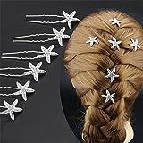 Toruiwa 5X Epingle à Cheveux Barrettes Pince Forme de Etoile pour Mariage Fête Saint-Valentin Soirée