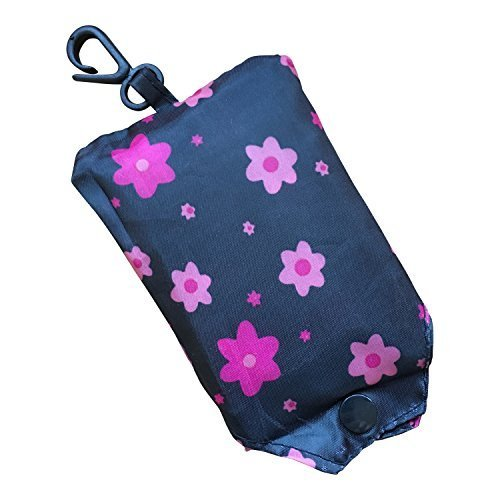 handy-fold-up-shopper-pack-away-re-usable-shopping-bag-foldable-with-pouch-and-clip-by-ecoblue-flowe