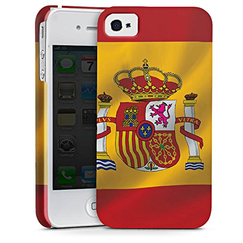 Apple iPhone X Silikon Hülle Case Schutzhülle Spanien Flagge Spain Premium Case glänzend