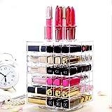 shayson transparente acrílico Spinning Maquillaje Organizador Pantalla Almacenamiento Lipstick Lipgloss–Nailpolish Eyeliner Funda para Spinning Lipstick Tower