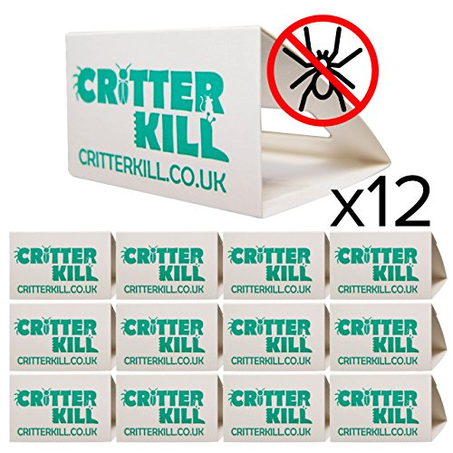 Spider Trap 12 Pack - Spiders And Crawling Insect Killer Traps - Child And Pet Safe - Eco Friendly