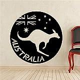 Geiqianjiumai Wandaufkleber Wilden Känguru Känguru Banner Vinyl Kinderzimmer Schlafzimmer Innendekoration Home Art Design 60X60CM