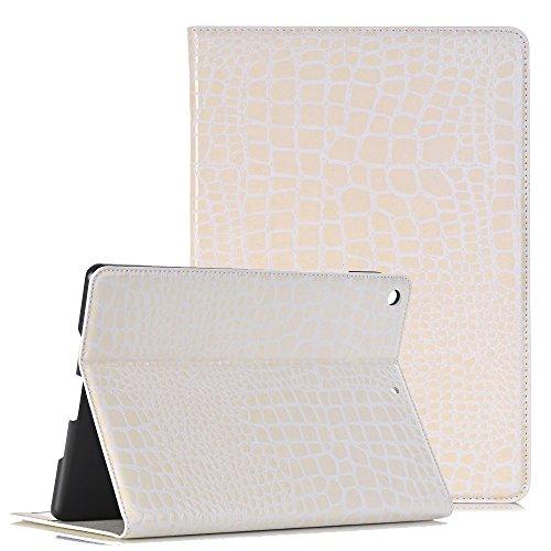 Apple Neues iPad 9.7 2017 Lederhülle, TechCode Luxus Krokodil Haut Muster PU Leder Bookstyle Folio...
