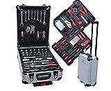 Werkzeug-Komplettset 207tlg im Alu Trollye Transportkoffer Werkzeug CV-Stahl Werkzeugset Werkzeugkoffer