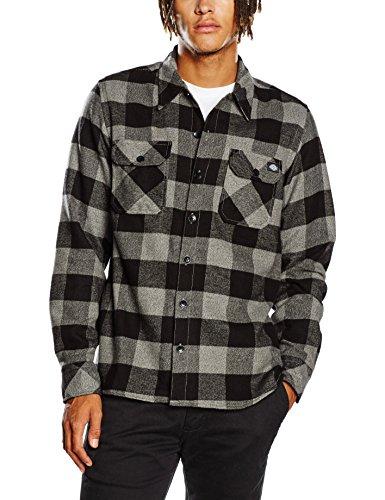 dickies-mens-sacramento-casual-shirt-grey-gris-grey-melange-x-large