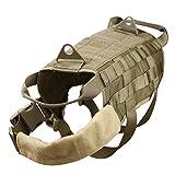 lazutom verstellbar Molle Tactical Vest Hund Training Harness Utility Klettverschluss Tasche Zubehör Staubbeutel braun m