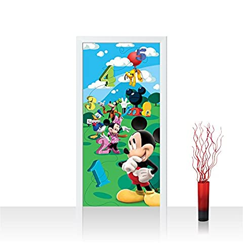 Türtapete selbstklebend 91x211 cm PREMIUM PLUS Tür Fototapete Türposter Türpanel Foto Tapete Bild - DISNEY Mickey Mouse and Friends Kindertapete Cartoons Comic - no. 997