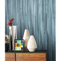 Holztapete Vliestapete Blau Edel , Schöne Edle Tapete Im Holzwand  Vertäfelung Design , Moderne 3D Optik