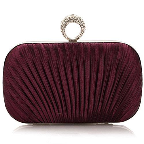 ERGEOB® Donna Clutch sacchetto di sera borsetta Clutch piccola raso
