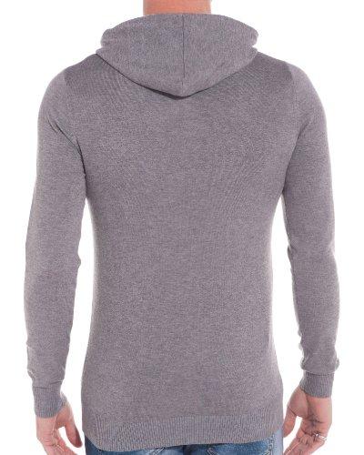 BLZ jeans - Männer Pullover hellgrauen Kapuzenpullover Grau