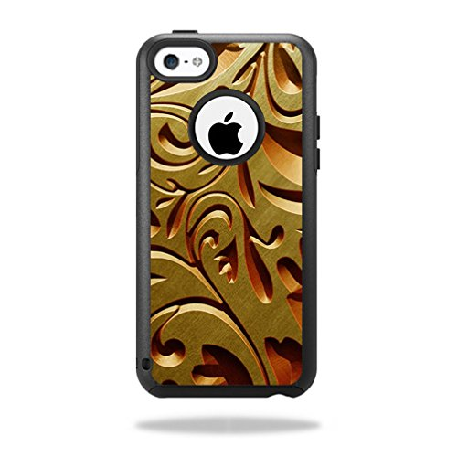 MightySkins Protective Vinyl Skin Decal for OtterBox Commuter iPhone 5C Case wrap cover sticker skins Mosaic Gold