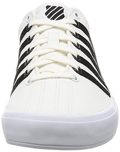 K-Swiss Homme Court Formateurs Pro VULC, Blanc White/Black