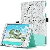 BENTOBEN iPad Mini 1 2 3 Hülle, iPad Mini Schutzhülle Slim Smart Cover PU Leder Tasche mit Stylus Halter Auto Aufwachen/Schlaf Funktion Case für iPad Mini 1 2 3 Weiß Marmor