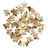 MagiDeal 50 Pcs Pendentif Charme En Forme De Papillon Collier Bijoux DIY Cordon Accessoire Créatif - Couleur cuivre
