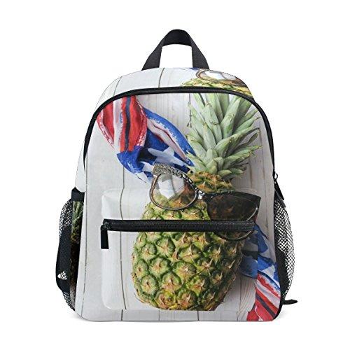 MUOOUM Rucksack mit Ananas-Sonnenbrille, für Kinder im Vorschule, Kleinkinder, Reisetasche