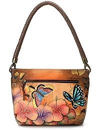 ANUSCHKA - Bolso al hombro para mujer multicolor Animal Hibiscus