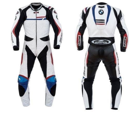 Preisvergleich Produktbild Motorrad-Lederjacke BMW Dainese GP Plus, Maßgeschneiderter Motorsport-Rennanzug mit kostenlosem Namensaufdruck