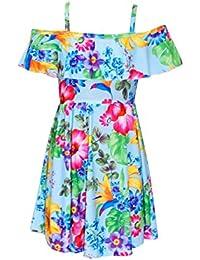 Minx London Fille Sans Manche Sur Tous Motif Fleur Court Floral Robe Patineuse