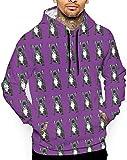 sunyly Englische Bulldogge Schwarz Unisex Hoodie Neuheit Coole Langarm Pullover Große Taschen Mit Kapuze Lustiger Druck Sweatshirt, M