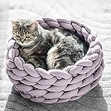 Berrose-Große weiche gestrickt grobe Wolle Haustier Hund Katze Warmes Bett Haus Plüsch Cosy Nest Mat Pad Grobe Gestrickte Katzenbett Weiche Tierbett warmes Matte
