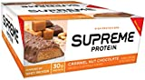 Supreme Protein 96 g Caramel Nut Crunch Whey Protein Snack Bars - Box of 12