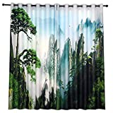 QPGGP-Vorhänge Willkommen In Pine Landschaft Style Bedroom Dicker Wärmedämmung Schalldämmung Vorhang Fertig,150 X 270 cm (W X H) X 2