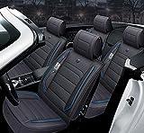 Siège de voiture en cuir facile à nettoyer, ensemble complet 5 sièges - dossier en...