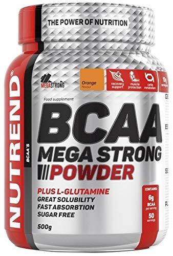 Nutrend BCAA MEGA PLUS STRONG POWDER L-glutamin 500g Grapefruitaroma Aminosäuren L-Leucin, L-Isoleucin und L-Valin-4: 1: 1-Verhältnis
