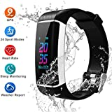 IDOOSMART Fitness Armband mit Pulsmesser,Sport Smart Watch,Wasserdicht IP67 Fitness Tracker,0,96 Zoll Farbbildschirm Aktivitätstracker Fitness Uhr Smartwatch,Pulsuhren,Schrittzähler Uhr