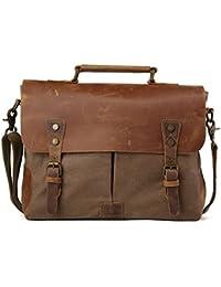 tiding hommes sac de voyage toile sacs Hobo Sac bandoulière en cuir Sac pour l'école