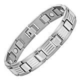 Mens Titanium Magnetic Therapy Bracelet for Arthritis Pain Relief Size Adjusting Tool and Gift Box Included By Willis Judd